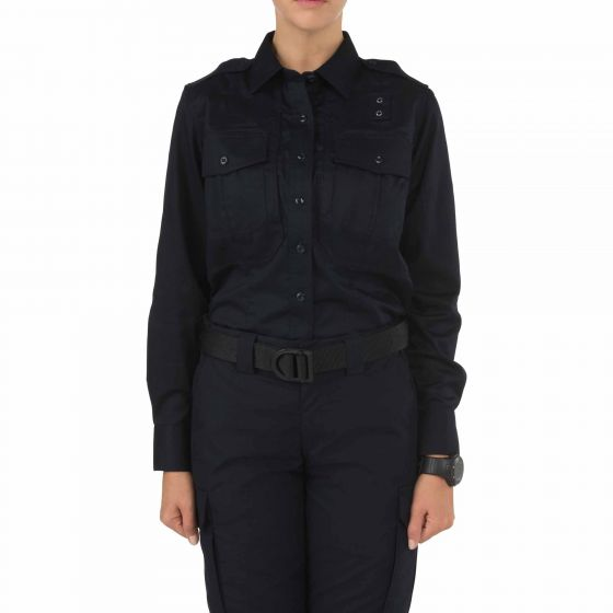 Women's Twill PDU Class-B Long Sleeve Shirt 62065_750_01