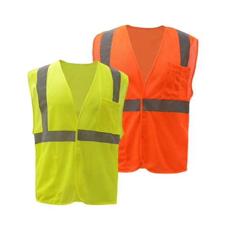 ECONOMY CLASS 2 SAFETY VEST - HOOK & LOOP