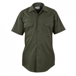 Elbeco Mens, Forest Green, LA County Sheriff West Coast Short Sleeve Shirt, Class BPlain Pocket