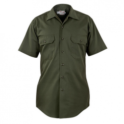 Elbeco Womens, Forest Green, LA County Sheriff, Short Sleeve, Plain Pocket