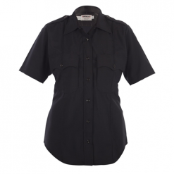 Elbeco Womens, Navy, Distinction Plain Pocket Short Sleeve Shirts, Without Creases, Ladies Choice