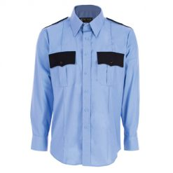 Men's Two-Tone Polyester/Cotton Long Sleeve Uniform Shirt - Tactsquad