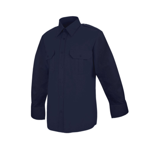Men's Hex Style Pocket - Poly/Coton Security Long Sleeve Shirt